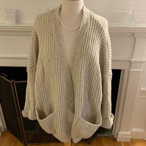 ZARA super soft cozy oversized ribbed cardigan